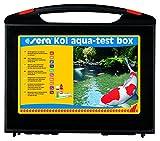 sera 07715 KOI Aqua-Test Box Testkoffer für den Teich mit 10 verschiedenen Wassertest pH, GH, KH, NH3/NH4, NO2, NO3, PO4, Fe & Cu Teichwasser Testen für...