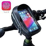 Velmia Fahrrad Lenkertasche [Wasserdicht] - Fahrrad Handyhalterung ideal fürs Navi - Fahrradtasche Lenker mit/ohne Fingerabdrucksensor-Unterstützung für...