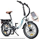 BLUEWHEEL 20' klappbares E-Bike I Deutsche Qualitätsmarke I Shimano 7 Gang-Schaltung I EU-konform Klapprad mit App + 250 W Motor + Batterie abnehmbar |...