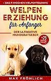 Welpenerziehung für Anfänger: Der ultimative Hunderatgeber. Wie Sie Ihren Junghund richtig erziehen und trainieren: mit praxisnahem Hundecoaching & 25...