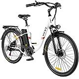 VIVI E-Bike Elektrofahrrad, 26 Zoll Pedelec Elektrisches Fahrrad 350W Citybike Elektrofahrräder mit Abnehmbarer 8Ah Lithium-Batterie, Shimano 7-Gang (26 Zoll...