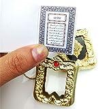 ZSHWAN Moslemisches Keychain Harz-Islamisches Miniarche-Quran-Buch-Reales Papier Kann Hängenden Schlüsselring-Schlüsselkette-Religiösen Schmuck Lesen