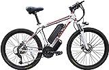 LFSTY Elektro-Mountainbike, elektrisches Fahrrad für Erwachsene Removable Kapazität Lithium-Ionen-Akku (48V13Ah 350W), Elektro-Fahrrad Fully und Shimano...