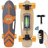 Tooluck Elektrisches Skateboard mit kabelloser Fernbedienung, 20 km/h Höchstgeschwindigkeit, 350 W Motor, 8 km maximale Reichweite, Elektrisch Longboards für...