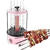 LWKBE Vertikaler Grill 1100W, elektrischer Grill, rauchloser Shawarma Rotary Ofengrill, geeignet für den Hausgebrauch infrarotgrill, geeignet für Familien,...