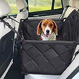 Hundesitz Auto - Hochwertiger Hunde Autositz Rückbank groß für kleine bis mittlere hunde- Autositzbezug mit Verstärkte Wände, 3 Gurte und Sicherheitsgurt,...