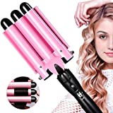 Aibeau, Lockenstab 3 Dreifache Fässer lockenstäbe Haarwickelzange Hair Waver Pearl Waving Lockenwickler, Wellenstyler Turmalin Keramik Digitale...