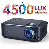 Beamer 4500 Lumen Multimedia Full HD Video-Beamer unterstützt 1080P Full HD LED 50000 Stunden mit max 200' Display, Verbindung mit HDMI VGA SD USB AV Gerät,...