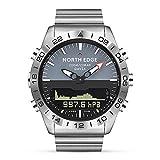 Fesjoy Mann-Sport-Digital-Analoguhr-Taucheruhr-volle Stahlgeschäfts-Armbanduhr-Höhenmesser-Kompass 100m wasserdicht