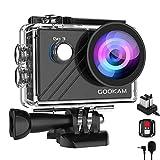 GOOKAM Go 3 Action Cam 4K WiFi Actionkamera 20MP Unterwasserkamera Wasserdicht 40M EIS Sportkamera mit Externem Mikrofon 2.4G Fernbedienung Ultra HD Helmkamera...