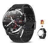 Voigoo Smartwatch (2021 neu) 1.3' Touch Screen Herren Damen Intelligente Uhren Sport | Bluetooth-Anruf | EKG-Überwachung Tracker Pulsuhr Schrittzähler...