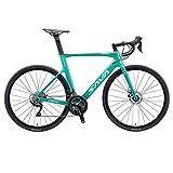 SAVADECK Scheibenbremse Rennrad 700C Carbon Rahmen Fahrrad mit Shimano 105 R7000 22 Gang Schaltgruppe und mechanische Scheibenbremse (Blau, 54cm (für...