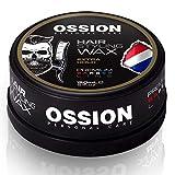 Ossion Premium Barber Line Beard & Hair Styling Wax Gummy Gel Hair Spray Shaving Gel Men Haarwachs Haargel Haarspray Rasiergel Herren Matt & Wet Look (Extra...