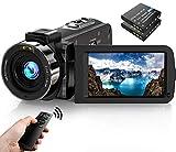 Videokamera Camcorder 1080P FHD 30FPS 36MP IR Nachtsicht YouTube Vlogging Kamera Recorder 3.0 '' 270 Grad Drehung IPS Bildschirm 16X Digital Zoom Camcorder mit...
