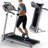 Kinetic Sports KST2700FX Laufband klappbar elektrisch 500 Watt leiser Elektromotor, 12 Pogramme, bis 120 kg, GEH- und Lauftraining, Tablethalterung, stufenlos...