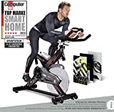 Sportstech Profi Indoor Cycle SX400 | Deutsches Qualitätsunternehmen | mit Video Events & Multiplayer App | 22KG Schwungrad | Pulsgurt kompatibel | Speedbike...
