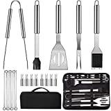 LUOWAN Grillbesteck 20pcs Stainless Steel BBQ Tools Set, Portable Complete Barbecue Utensils Set Ideal Gift for Dad Husband, Premium Barbecue Accessories Kit...