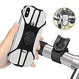 MOSUO Handyhalterung Fahrrad, Abnehmbare Motorrad Handyhalter Fahrrad Handy Halterung mit 360° Drehbar Fahrradhalterung Halter Universal für alle 4-6.5 Zoll...