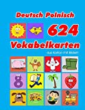 Deutsch Polnisch 624 Vokabelkarten aus Karton mit Bildern: Wortschatz karten erweitern grundschule für a1 a2 b1 b2 c1 c2 und Kinder (Wortschatz deutsch als...