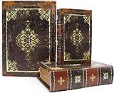 Jolitac 3er Buchattrappe Box Set, Hohles Buch mit Geheimfach, Vintage Buchversteck Getarnte Buchtresor, Schmuck Aufbewahrungsbox Dekorative Buch, Requisiten...