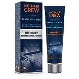 NO HAIR CREW Premium Enthaarungscreme für den Intimbereich – extra sanfte Haarentfernung für Männer, 100 ml