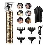 Herren-Haarschneider, Taotuo Professional Akku-Bart Batterie, T-förmiges Rasiermesser, schlanker elektrischer Bart und Bartschneider, die in Friseursalons...