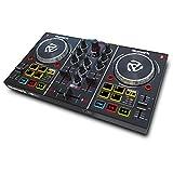 Numark Party Mix - 2 Kanal Plug und Play DJ Controller für Serato DJ Lite mit eingebautem Audio Interface und Kopfhörer Cueing, Pad Performance Steuerung,...