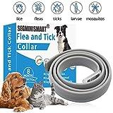 Zeckenhalsband für Hunde,Zeckenband für Katzen,Natürliches Zeckenhalsband für Hunde und Katzen,Fohhalsband Hunde,Reflektierendes Halsband gegen Zecken &...