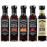 Jack Daniel's - Grillsaucen & BBQ Glaze Probierpaket - 5 Flaschen im Set (1330g) - Smooth Original, Full Flavor Smokey, Smokey Sweet, Hot Chilli, Tennessee...
