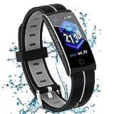 Fitness Armband mit Pulsmesser Blutdruckmessung Fitness Uhr Wasserdicht IP67 Fitness Tracker Schlafmonitor Schrittzähler Kalorienzähler Smart Armband Uhr...