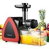 Homever Entsafter Slow Juicer, Entsafter für Obst und Gemüse, Leiser Motor, Umkehrfunktion, leicht zu reinigen, nährstoffreiche Kaltpresse Entsafter mit...