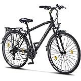 Licorne Bike Premium Trekking Bike in 28 Zoll - Fahrrad für Herren, Jungen, Damen und Herren - Shimano 21 Gang-Schaltung - Herren Citybike - Männerfahrrad -...