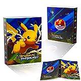 Esportic Pokemon Sammelalbum, Pokemon Karten Album Pokemon Karten Halter, Pokemon Ordner Karten Album Buch, GX EX Trainer Sammel kartenalben, 30 Seiten 240...