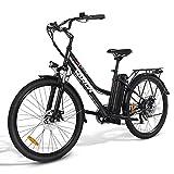 VARUN Damen Herren E-Bike 26 Zoll Elektrofahrrad Shimano 7 Gänge Pedelec Citybike mit 350W Motor 36V 10.4AH Lithium-Ionen-Akku E-Fahrrad für Erwachsene...