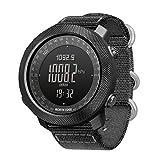 WJ Digitale Armbanduhr, Smart Sport Uhr mit Höhenmesser, Kompass, Stoppuhr, Militär, Armee, taktische Uhr, 50 m wasserdicht, Digitaluhr, Nylon-Armband, für...