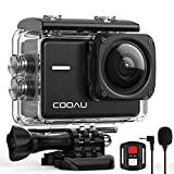 COOAU Native 4K 60fps 20MP WiFi Action Cam Sportkamera mit 8XZoom verbessertem EIS Stabilisierung 40M Wasserdicht Unterwassergehäuse 170° Verstellbares...