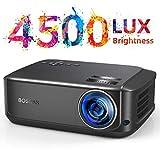 Heimkino-Beamer 50000 Stunden unterstützt 1080P Full HD, 4500 Lumen LCD LED Video Beamer für Film Unterhaltung Spiele Reisen, unterstützt HDMI VGA AV USB...
