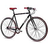 CHRISSON 28' Zoll RENNRAD URBANRAD Unisex Fahrrad Old Road 1.0 mit 3G Shimano Nexus 56cm schwarz