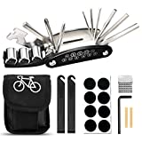 FRECOO Fahrrad Multitool, Fahrrad Werkzeug Tool 16-in-1-Multifunktions Fahrrad Werkzeug Reparaturset für Fahrrad Reparatur, Werkzeugset Fahrrad mit...