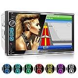 XOMAX XM-2VN752 Autoradio mit Mirrorlink, GPS Navigation, Navi Software, Bluetooth Freisprecheinrichtung, 7 Zoll / 18cm Touchscreen Bildschirm, FM Tuner, SD,...