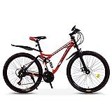 Sport im Freien Commuter City Rennrad Fahrrad Mountain 26 Zoll Mountainbikes Erwachsener Student Doppelscheibenbremse Mountainbike Hochkohlenstoffstahlrahmen...