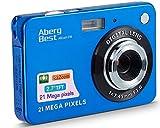 AbergBest 21 Megapixel 2,7'LCD wiederaufladbare HD Digitalkamera Digitale Videokamera Studentenkamera Indoor Outdoor für Erwachsene/Senioren/Kinder (Blau)