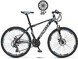 Damenfahrrad Trekkingrad Cross Trekkingbikes Mountain Offroad Bike Männer und Frauen mit Variabler Geschwindigkeit Light Bike-26 Zoll / 21 Geschwindigkeit_Blau