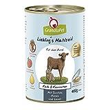 GranataPet Liebling's Mahlzeit Kalb & Kaninchen, Nassfutter für Hunde, Hundefutter ohne Getreide & ohne Zuckerzusätze, Alleinfuttermittel, 6 x 400 g