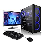 Megaport Komplett PC AMD Ryzen 3 3200G 4X 3.60GHz • GeForce GTX1050Ti • 22' Bildschirm + Tastatur+Maus • 8GB • 1TB • Windows 10, Gaming PC, Gamer PC,...