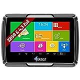 Elebest Motorrad und PKW Navigationsgerät Rider A43 Pro, Navi, 4.3 Zoll Bildschirm Android 6.0 - Bluetooth W-LAN Wasserfest 32GB Speicher Fahrspurassistent...