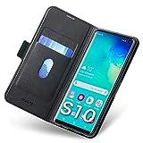 Aunote Samsung Galaxy S10 Hülle, Galaxy S10 Schutzhülle mit Kartenfach, Handyhülle Tasche, Leder Etui Folio Flip Cover Case, PU TPU Klapphülle...