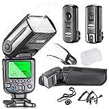Neewer® Profi i-TTL-Kamera Ein / Aus KamerablitzSatz Blitz mit Auto-Focus Bildschirm + Wireless-Auslöser +M-C-KabelKabel&Kabel+ Hart & Weich Blitz-Diffusoren...