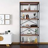 Himimi Bücherregal Industrial 5 fächer Eckregal Standregal Wandregal für Wohnzimmer Schlafzimmer Küche