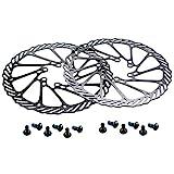 CYSKY 160mm Fahrrad Bremsscheibe 2 Stück Scheibenbremse Fahrrad mit 12 Schrauben für die meisten Fahrrad Rennrad Mountainbike BMX MTB